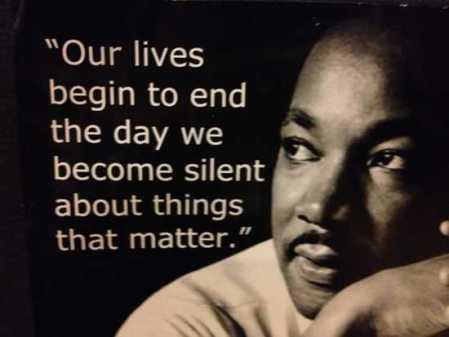 being silent