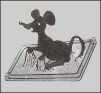 Glue trap mouse