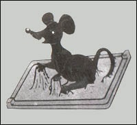 Glue trap mouse